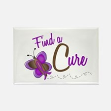 Find A Cure 1 Butterfly 2 PURPLE Rectangle Magnet