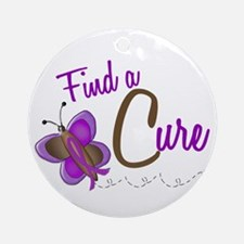 Find A Cure 1 Butterfly 2 PURPLE Ornament (Round)