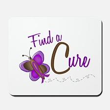 Find A Cure 1 Butterfly 2 PURPLE Mousepad