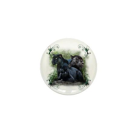 Black Jaguar Mini Button