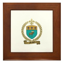 MENEUX Family Crest Framed Tile