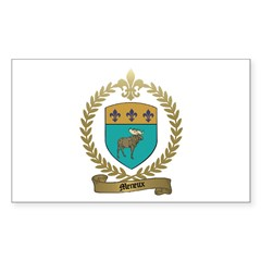 MENEUX Family Crest Rectangle Decal
