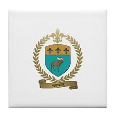 MENEUX Family Crest Tile Coaster