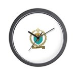 MENEUX Family Crest Wall Clock