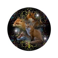 "Foxes 3.5"" Button"