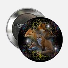"""Foxes 2.25"""" Button"""