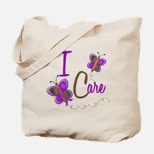 I Care 1 Butterfly 2 PURPLE Tote Bag