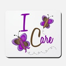 I Care 1 Butterfly 2 PURPLE Mousepad