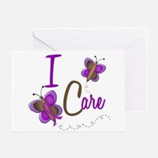 I Care 1 Butterfly 2 PURPLE Greeting Card