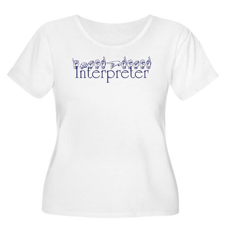 Interpreter/Jill Women's Plus Size Scoop Neck T-Sh