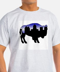 Snowy Day Skyline T-Shirt
