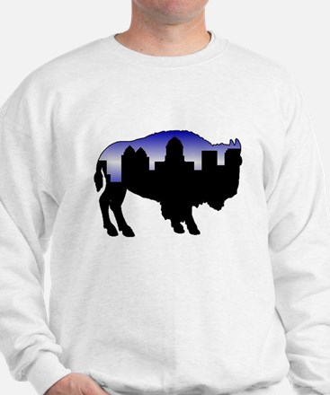 Snowy Day Skyline Sweatshirt