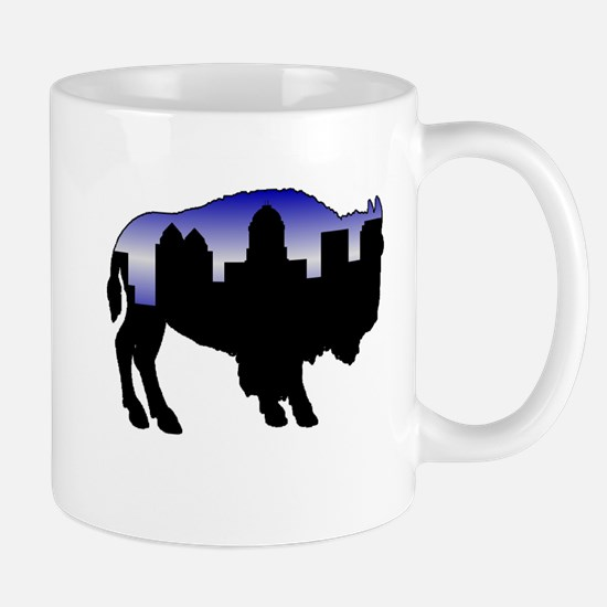 Snowy Day Skyline Mug