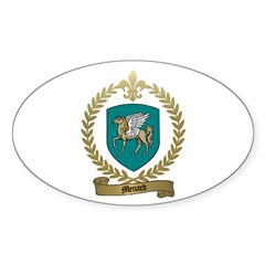 MENARD Family Crest Oval Decal