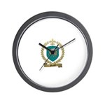MENARD Family Crest Wall Clock