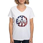USA Peace Sign Women's V-Neck T-Shirt