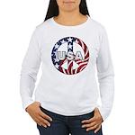 USA Peace Sign Women's Long Sleeve T-Shirt