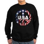 USA Peace Sign Sweatshirt (dark)