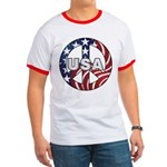 USA Peace Sign Ringer T