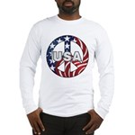 USA Peace Sign Long Sleeve T-Shirt
