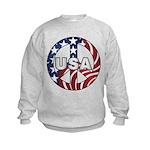 USA Peace Sign Kids Sweatshirt