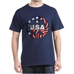 USA Peace Sign Dark T-Shirt