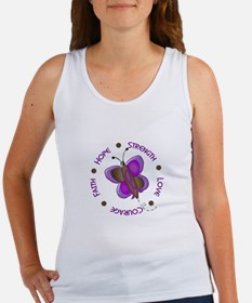 Hope Courage 1 Butterfly 2 PURPLE Women's Tank Top