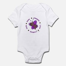 Hope Courage 1 Butterfly 2 PURPLE Infant Bodysuit