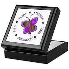 Hope Courage 1 Butterfly 2 PURPLE Keepsake Box