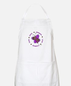 Hope Courage 1 Butterfly 2 PURPLE BBQ Apron
