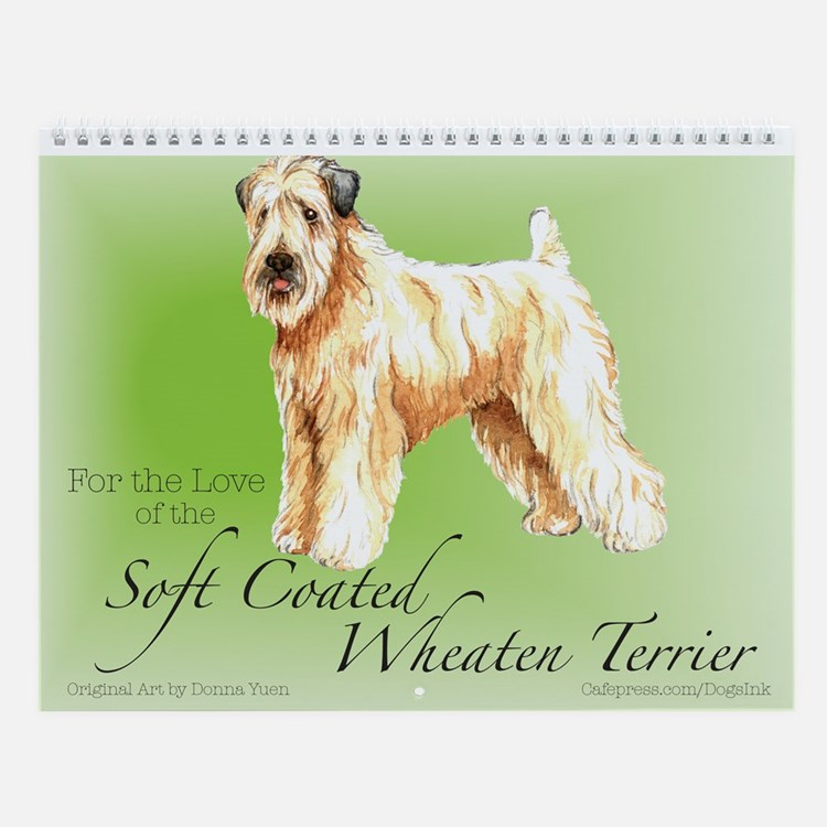 Soft Coated Wheaten Terrier Wall Calendar