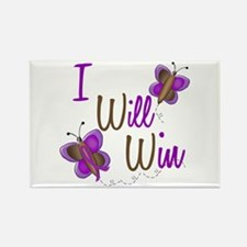 I Will Win 1 Butterfly 2 PURPLE Rectangle Magnet