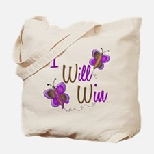 I Will Win 1 Butterfly 2 PURPLE Tote Bag