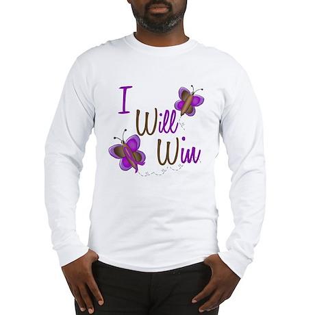 I Will Win 1 Butterfly 2 PURPLE Long Sleeve T-Shir