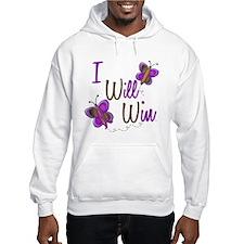 I Will Win 1 Butterfly 2 PURPLE Hoodie