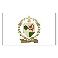 MELANCON Family Crest Rectangle Decal