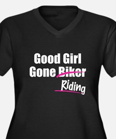 Good Girl Gone Riding Women's Plus Size V-Neck Dar