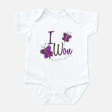 I Won 1 Butterfly 2 PURPLE Infant Bodysuit