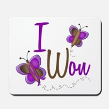 I Won 1 Butterfly 2 PURPLE Mousepad