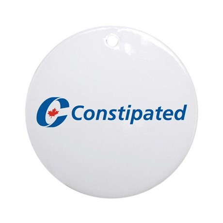 Constipated Ornament (Round)