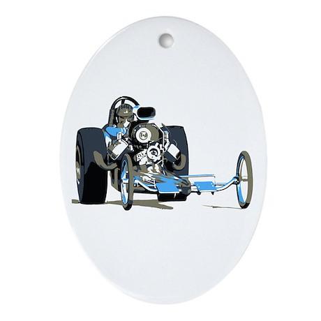 Vintage Top Fuel 1 Oval Ornament