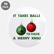 "XMAS BALLS 3.5"" Button (10 pack)"