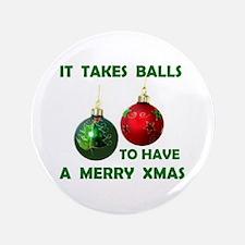 """XMAS BALLS 3.5"""" Button"""