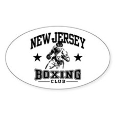 New Jersey Boxing Oval Decal