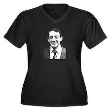 Harvey Milk Women's Plus Size V-Neck Dark T-Shirt