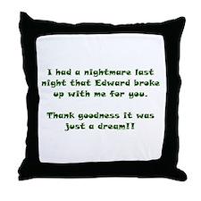 Edward Bad Dream Throw Pillow