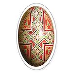 Pysanka (2) Oval Sticker