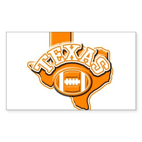 Texas Football Rectangle Sticker