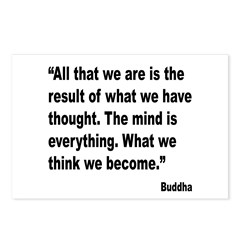 Buddha Mind Is Everything Quote Postcards (Package