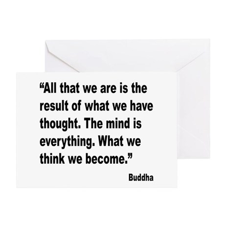 Buddha Mind Is Everything Quote Greeting Card